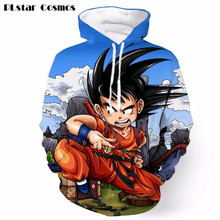 Anime Dragon Ball Z Goku 3D Sweatshirt Fashion Super Saiyan 3D Print Pullover Outerwear Men Hipster DBZ Sweatshirt