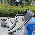 2016 Плюс Размер 36-47 Лето мужская Повседневная Кожа Квартиры Oxfords Обувь Мужчины Мокасины Обувь Для Вождения Sapatos мужской Chaussure