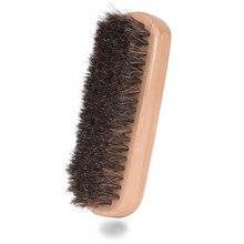 Horse Hair Shoe Brush Shoeshine Mane Anti-velvet Noodle Furry Leather Shoes Cleaning Soft