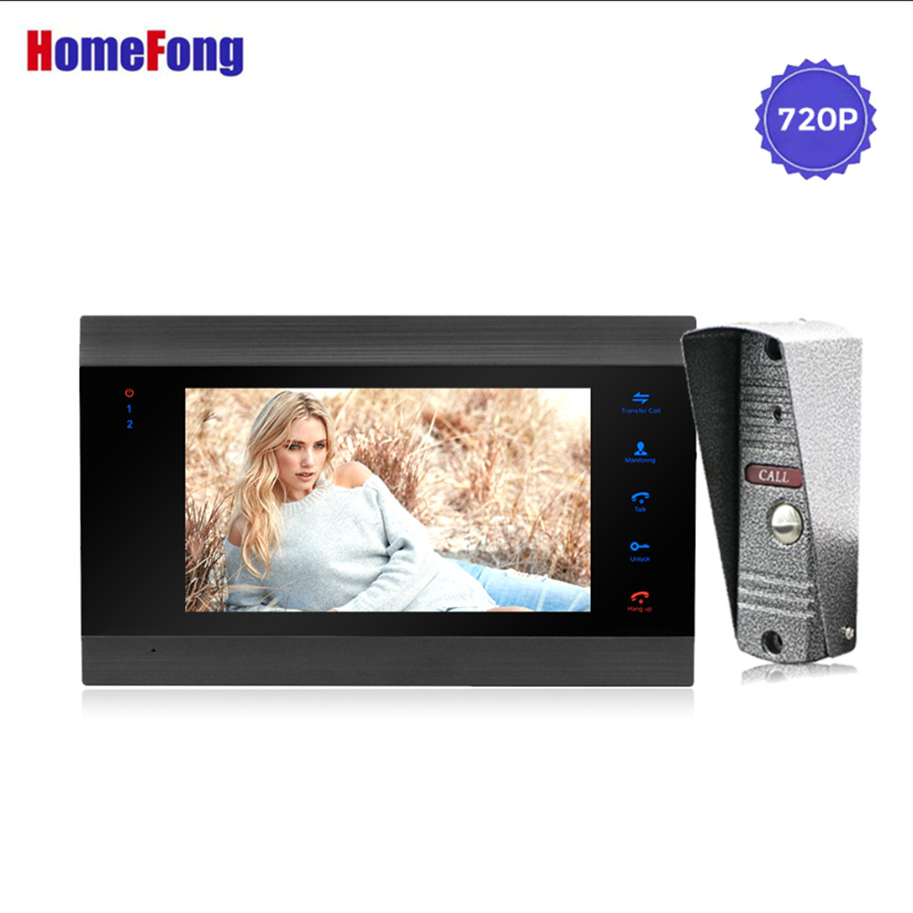 Homefong 7 Inch AHD 720P Video Intercom Video Door Phone Doorbell Camera Wide angle 2 8mm