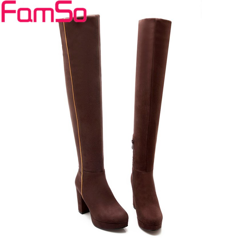 Free shipping 2016 new Sexy font b Women b font Boots Long Autumn Over The knee