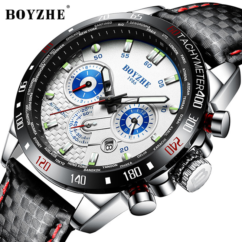 BOYZHE Automatic Mechanical Watch Men Sport Waterproof Luxury Brand Stainless Steel Military Mens Watches Relogio Masculino 2019BOYZHE Automatic Mechanical Watch Men Sport Waterproof Luxury Brand Stainless Steel Military Mens Watches Relogio Masculino 2019