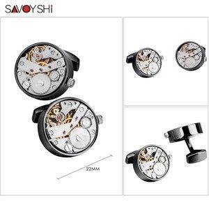 Image 2 - SAVOYSHI boutons de manchette pour montre mécanique, boutons de manchette, pour chemise, fonction, mécanisme, bijoux de marque de styliste