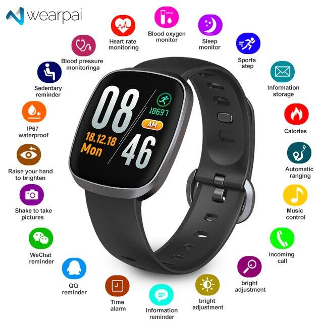 Wearpai GT103 Bluetooth Smart Watch Waterproof ip67 sport fitness tracker blood pressure monitor Android IOS Men Women watches