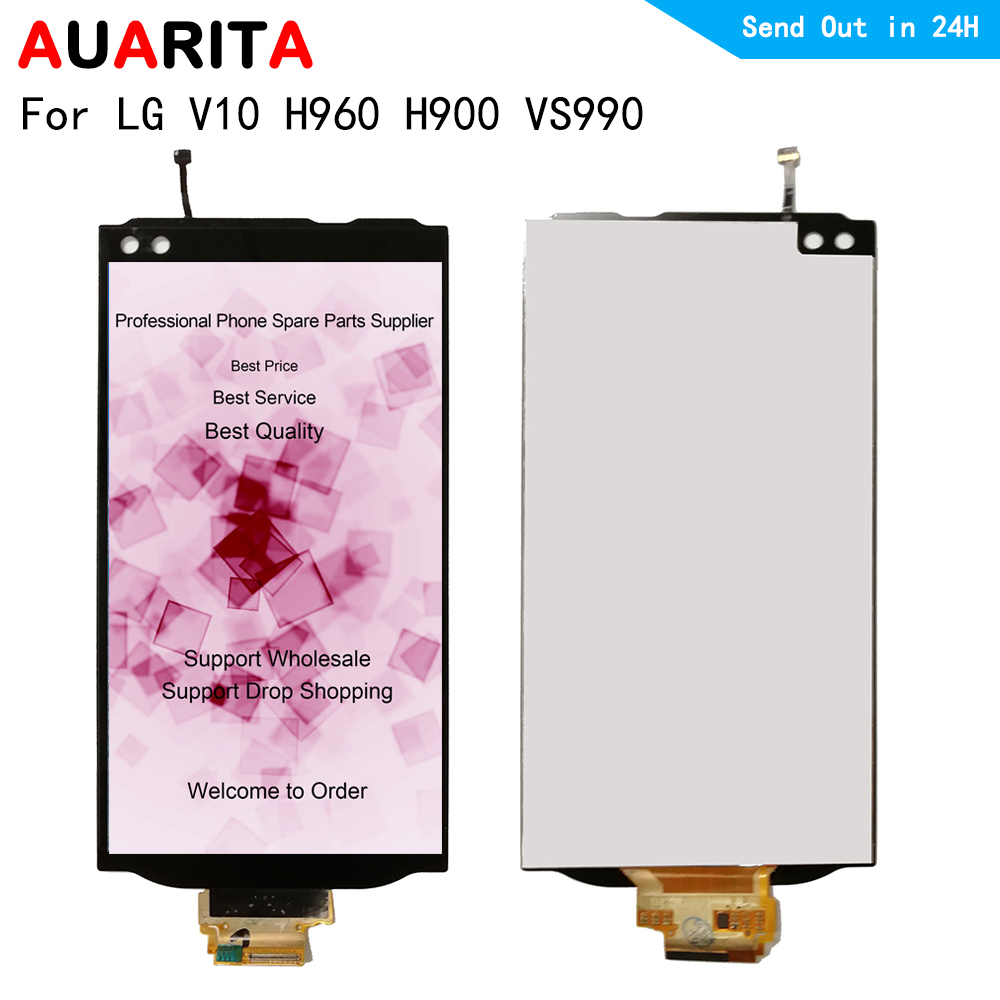 LGV10 LCD For <font><b>LG</b></font> <font><b>V10</b></font> H960 H900 VS990 LCD <font><b>Display</b></font> Touch panel Screen front glass Digitizer Assembly for LGV10 H960A H900 VS990 image