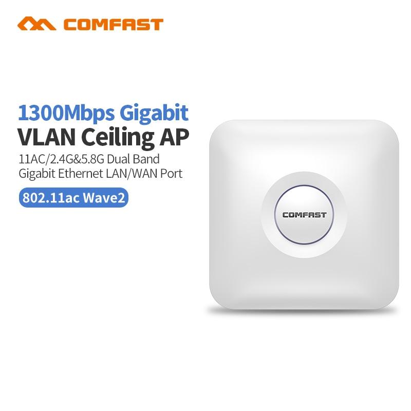 Comfast High Power 1300Mbps Dual Band Wireless Ceiling AP Gigabit WAN LAN Ethernet POE Port Wireless
