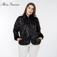 Plus Size 3XL 4XL 5XL Women Jacket New 2018 Spring Zipper Fur Sleeve Stand Collar Faux