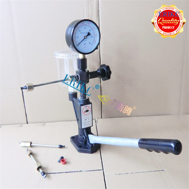 ERIKC Fuel Injector Nozzle Tester Diesel Fuel Injector Nozzle Tester Diesel Injection Pump Repair Equipment S60H