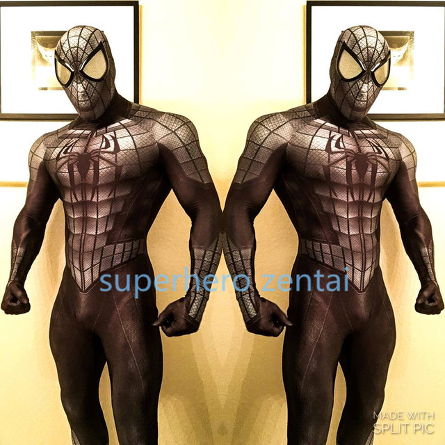 Armored Spider-man Costume 3D print  lycra Spandex adult Men Anime Spiderman Cosplay zentai Bodysuit customized Free Shipping