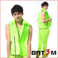 2015 new men costume green vest Ds fashion men's clothing male neon green super hot motorcycle vest men's clothing costume