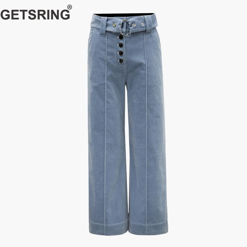 GETSRING Woman   Pants   Solid High Velour   Wide     Leg     Pants   Casual Loose Full Length Plus Size Women 2018 New Fashion Vintage   Pants