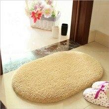 Alfombras de baño Absorbente Felpudo Alfombras de Piso de Espuma de Memoria Suave Oval antideslizante Bath Mats 40×60 cm y 50*80