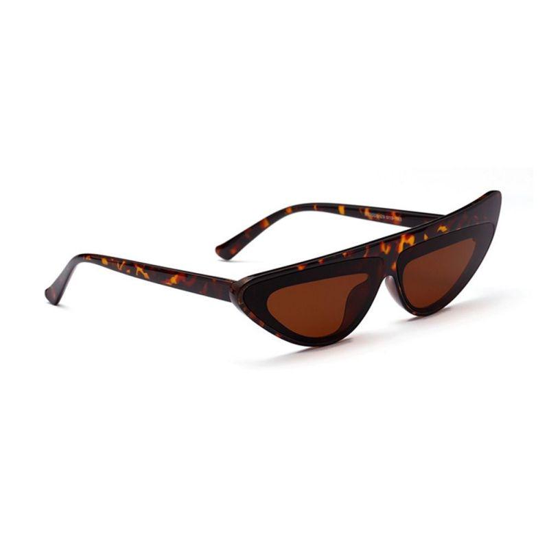 Cute Frame Irregular Small Cat Eye Glasses Asymmetric New Trendy Unisex Sunglasses Women Eyewear Accessories Female