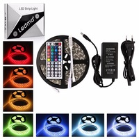 5050 Led Strip Light Kit 5A Power Supply DC12V Flexible Light 300 Leds 5M/Lot RGB Waterproof Home And Garden Decoration Lamp