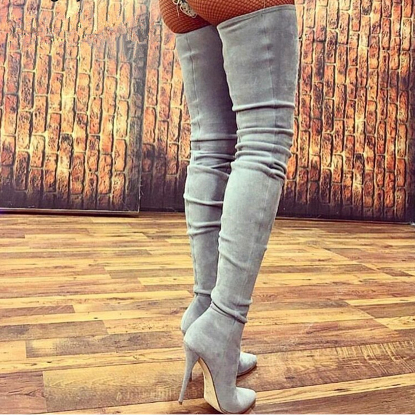10-5CM-Heels-Women-Shoes-Dress-Over-Knee-Winter-Boots-Woman-Faux-Suede-Leather-Boot-Womens_