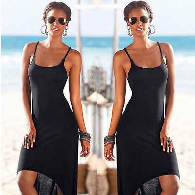 Hirigin Хиппи Boho женское повседневное летнее вечернее праздничное платье с открытой спинкой пляжное платье без рукавов с круглым вырезом длинное мини-платье