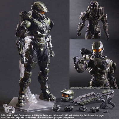HALO 5 GUARDIANS PLAY ARTS KAI: MASTER CHIEF halo 5 guardians play arts reform master chief action figure