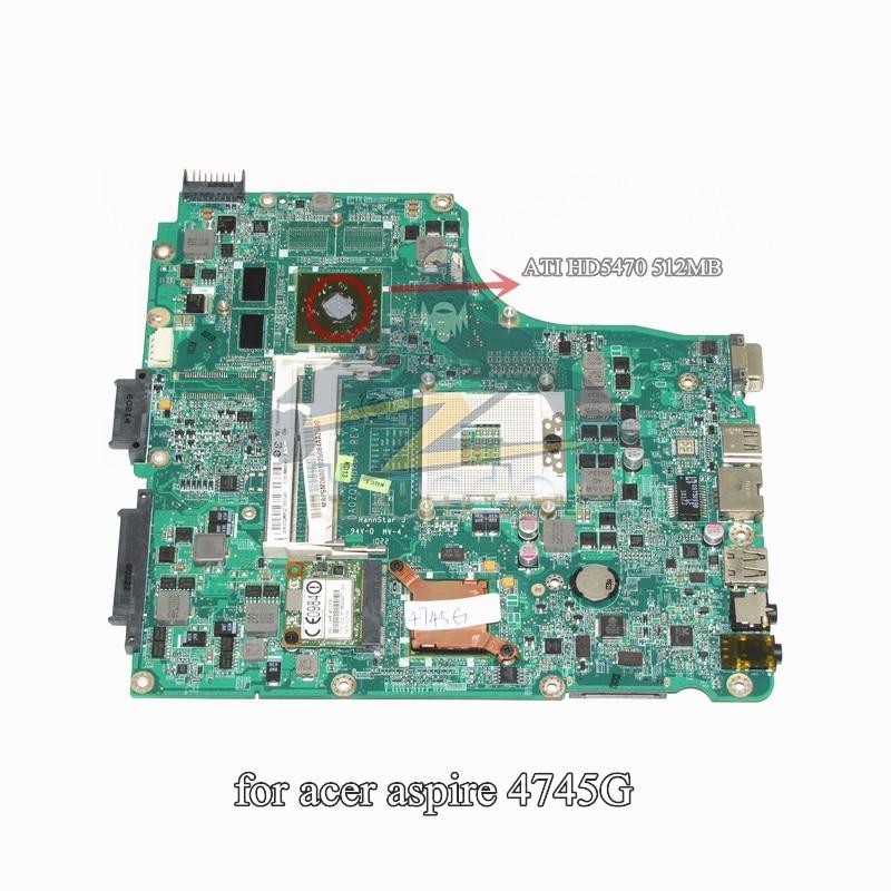 DA0ZQ1MB8D0 MB.PSM06.001 MBPSM06001 For Acer Aspire 4745 4745G Laptop Motherboard HM55 ATI HD5470 DDR3