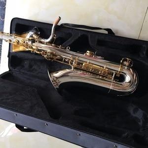 Image 5 - 100% SevenAngel Brand Tenor Saxophone Bb tone Woodwind Musical  Instrument Silver & gold Surface Provide  OEM Sax