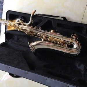 Image 5 - 100% sevenangelブランドテナーサックスbbトーン木管楽器シルバー & ゴールド表面提供oemサックス
