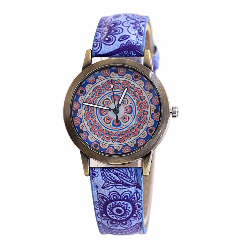 Hot fashion creative Special Pattern unique dial design lovers watch leather wrist watches clock couple watchhigh quality