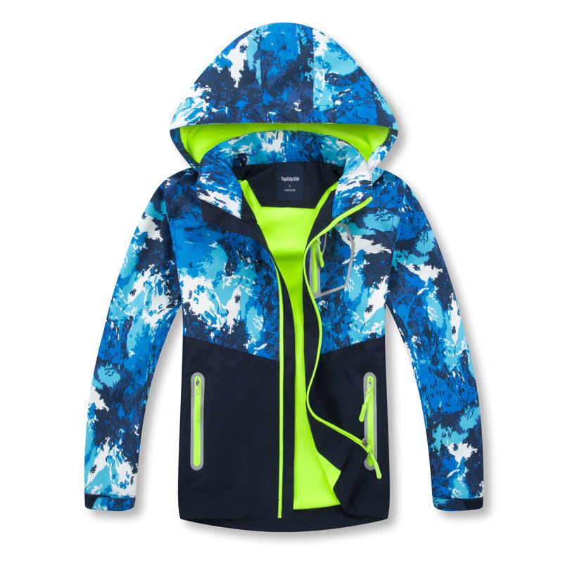 Осенне-зимняя верхняя одежда, ветровка, водонепроницаемое пальто, пальто для мальчиков и девочек, съемная Детская куртка с капюшоном для мальчиков