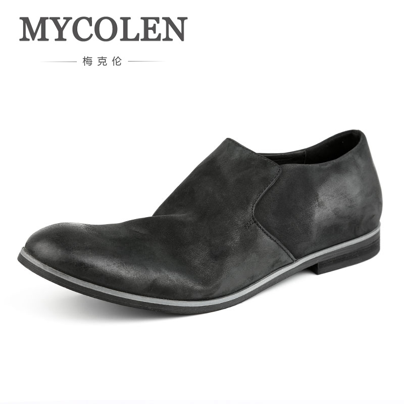 MYCOLEN Designer Men Loafer Shoes Handmade Fashion Slip On Round Toe Men Casual Shoes For Man Party Shoes Sepatu Casual Pria mycolen 2018 new summer breathable men casual shoes slip on male fashion footwear height increasing sneakers sepatu casual pria