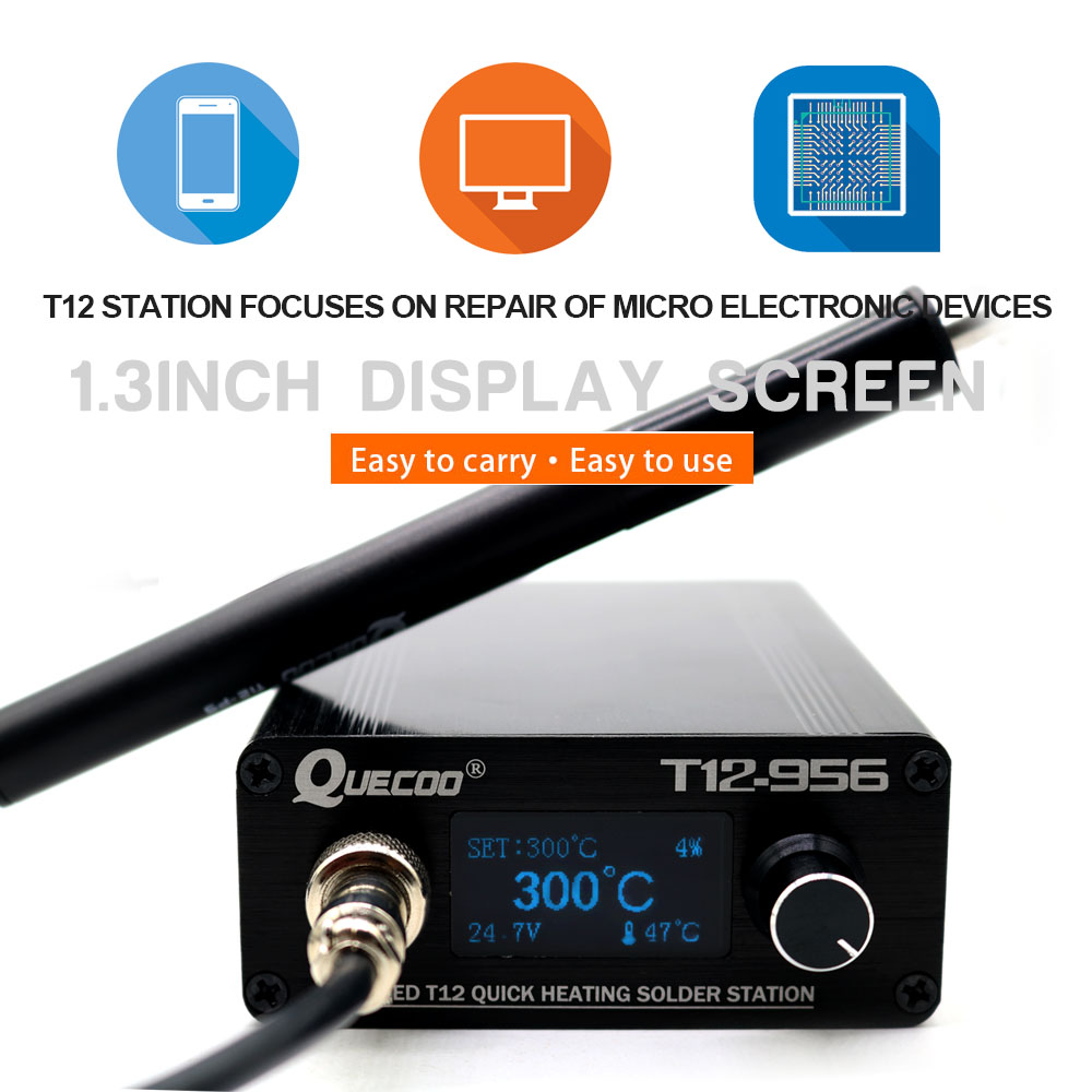 cheapest STC T12-956 Soldering Station Electronic Soldering iron OLED Digital station T12 solder iron tip with T12-P9 handle NO plug