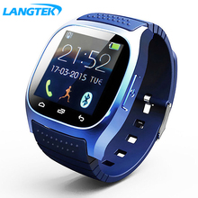 LANGTEK Impermeabile smartwatch bluetooth smart watch con led alitmeter lettore musicale pedometro per android smart phone