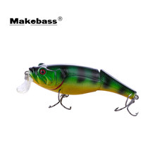 MAKEBASS Crankbait multi-jointed 2 sekcja BassBaits 3in0. 44oz fishingbait Swimbait HardBaits sztuczne woblery wędkarski(China)