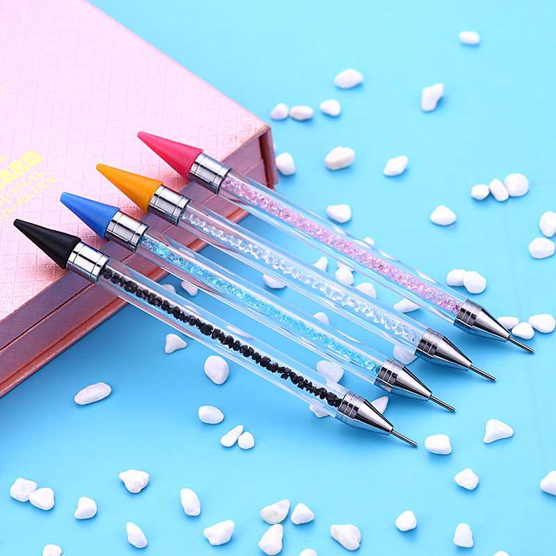 Image 4 - 2019 New Nail Point Drill Tool Acrylic Double Head Drill Crayon Multi Function Wax Head Point Drill Nail Pen-in Dotting Tools from Beauty & Health