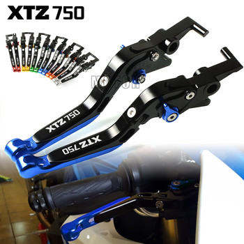 цены For Yamaha XTZ750 SuperTenere 1989 - 1995 Motorcycle CNC Aluminum Brake Clutch Levers Adjustable Folding XTZ 750 Super Tenere