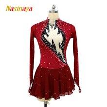 Nasinaya Figure Skating Dress Customized Competition Ice Skating Skirt for Girl Women Kids Patinaje Gymnastics Performance 248