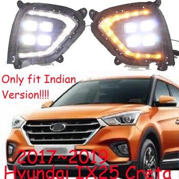 Indian version!Creta IX25 daytime light;2017~2019,Encino,Free ship!LED,IX25 fog light,car accessories,IX25 headlight