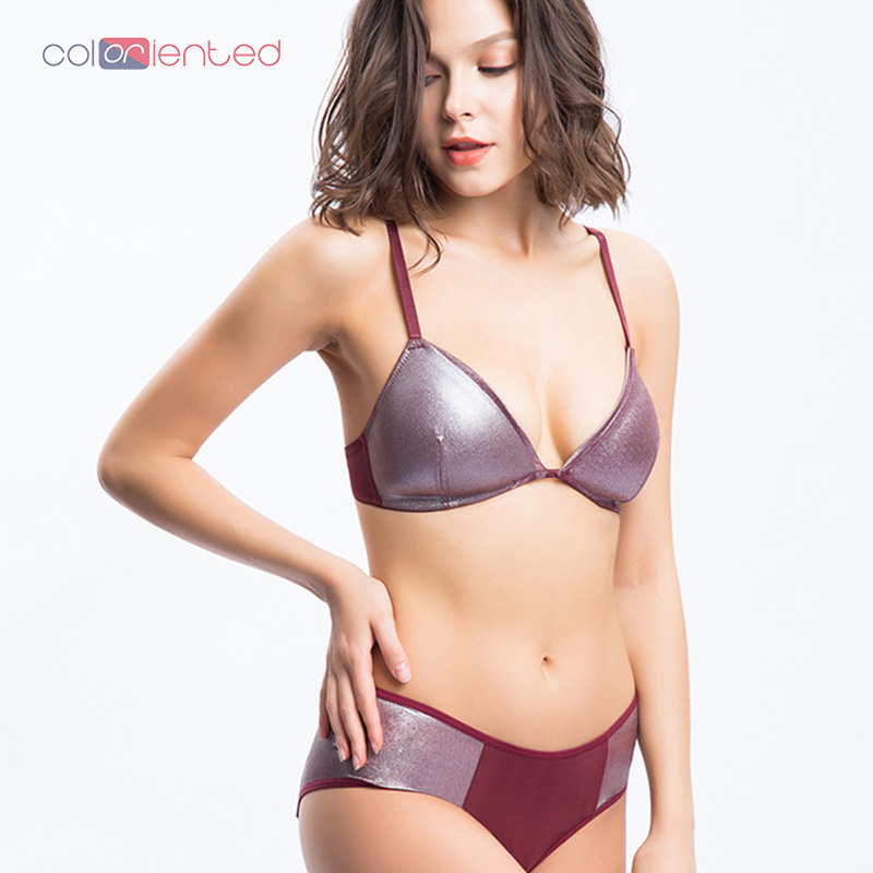 COLORIENTED 2018New Style Daily Women's Lace Underwear   Bra     Set   Comfortable Leisure   Bra   Adjustable Shoulder Strap Underwear BB004