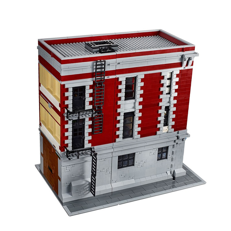 IN STOCK LEPIN 16001 4695Pcs Ghostbusters Firehouse Headquarters Model Building blocks Brick for children compatible with 75827 4695pcs lepin 16001 city series firehouse headquarters house model building blocks compatible 75827 architecture toy to children