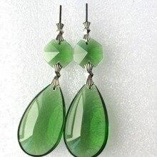 10 шт./партия 72 мм блестящая зеленая люстра стеклянные хрустальные Ламповые призмы части Висячие капли для кристаллов даже вечерние украшения