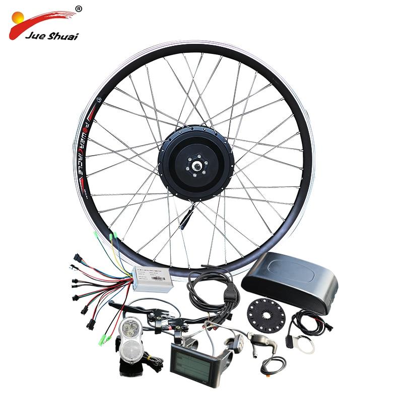 jueshuai 36V 500W Electric Bike Kit Motor Wheel for Mountain Road Bike 26