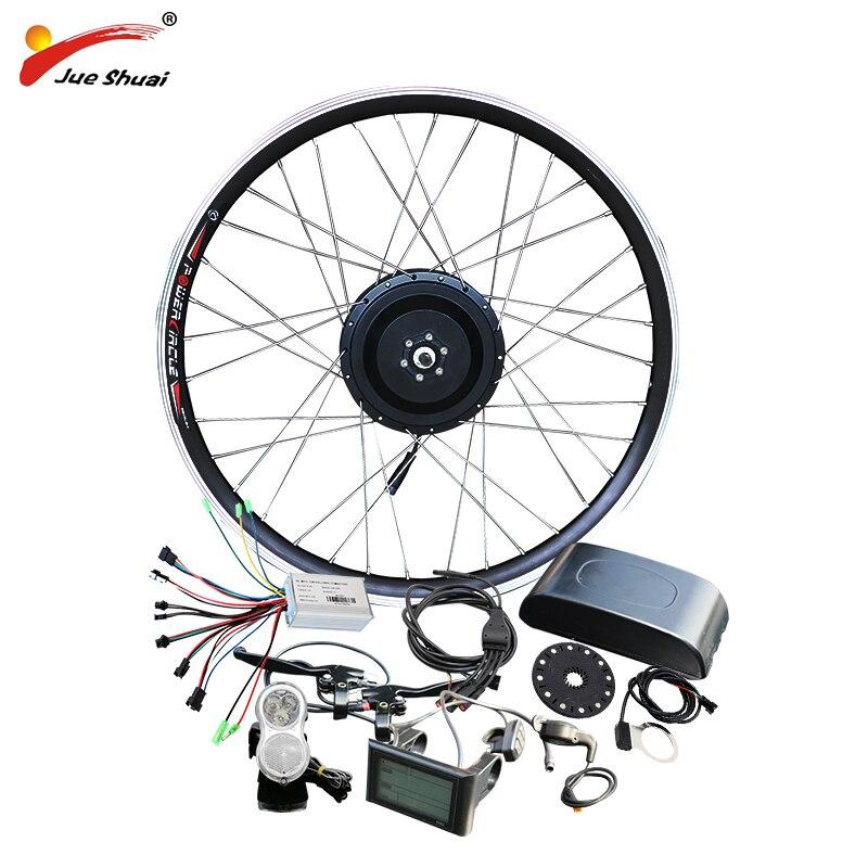 jueshuai 36V 500W Electric Bike Kit Motor Wheel for Mountain Road Bike 26 700C 1.75 2.125 moteur electrique velo Free shipping