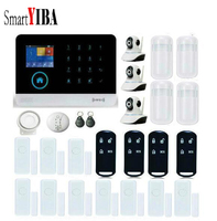 SmartYIBA APP Control Wireless Home House WIFI GSM SMS RFID Burglar Alarm System Video IP Camera Gas Fire Smoke Detector Sensor