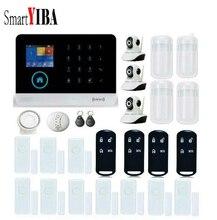 SmartYIBA APP Control Wireless Home House WIFI GSM SMS RFID Burglar Alarm System Video IP Camera