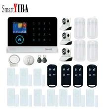 SmartYIBA APP Control Wireless Home House WIFI GSM SMS RFID Burglar Alarm System Video IP Camera Gas Fire Smoke Detector Sensor