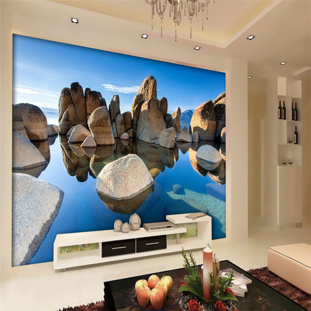 beibehang 3d wallpaper home decor photo background photographic rocky coast hotel room large wall art mural