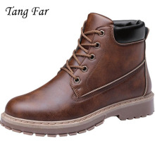 (High) 저 (Top Classic Men Shoes New Retro Boots 영국 Men's 툴 관 Shoes Man Motorcycle Boots 봉 제 Buty Mixed color(China)