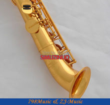 Satin Silver Gold Curved bell Soprano saxophone Bb key to High F key and G Key