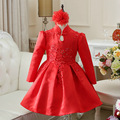 wholesale party dress infant 2016 New Girls Fashion Red Embroidery Christmas Party Dress  toddler girl christmas dress