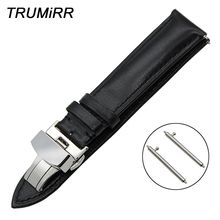18mm 20mm 22mm Quick Release Genuine Leather Watch Band for Maurice Lacroix Men Women Butterfly Buckle Wrist Strap Black Brown