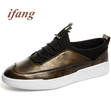 ifang 2017 fashion Flats men  men's Footwear Flats Shoe Male Zapatillas Hombre Loafers zapatos shoes mans