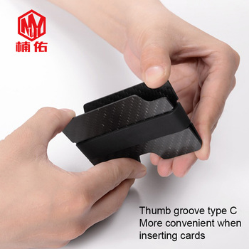Мужской ультратонкий кошелек из углеродного волокна для карт EDC, компактный креативный металлический кошелек для карт, легко носить с собой
