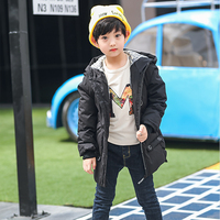 Jacket for Boys Kids Black Down Jackets for girls Hooded Light Long Parkas Toddler Spring Autumn Coat Size 4 5 6 8 10 12 Year